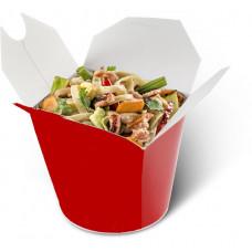 wok c цыпленком гриль и беконом